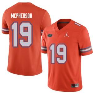 Jordan Brand Men #19 Evan McPherson Florida Gators College Football Jerseys Orange 893103-693
