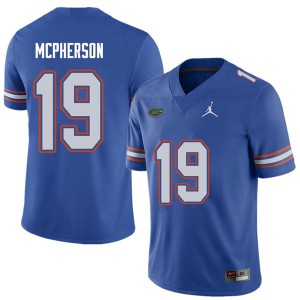 Jordan Brand Men #19 Evan McPherson Florida Gators College Football Jerseys Royal 622773-644