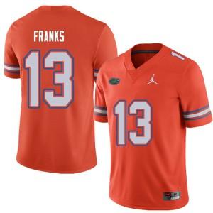 Jordan Brand Men #13 Feleipe Franks Florida Gators College Football Jerseys Orange 680503-613