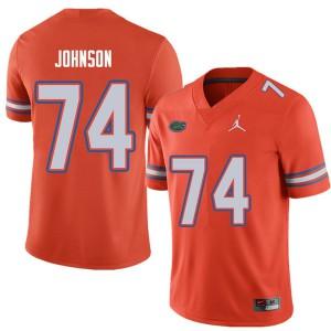 Jordan Brand Men #74 Fred Johnson Florida Gators College Football Jerseys Orange 766065-932