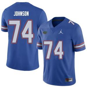 Jordan Brand Men #74 Fred Johnson Florida Gators College Football Jerseys Royal 719803-308