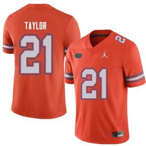 Jordan Brand Men #21 Fred Taylor Florida Gators College Football Jerseys Orange 786440-899
