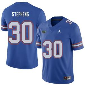 Jordan Brand Men #30 Garrett Stephens Florida Gators College Football Jerseys Royal 767232-391