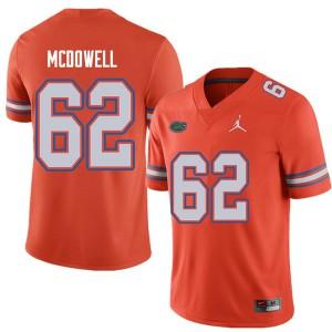 Jordan Brand Men #62 Griffin McDowell Florida Gators College Football Jerseys Orange 423875-239