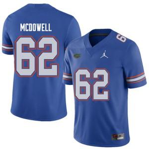 Jordan Brand Men #62 Griffin McDowell Florida Gators College Football Jerseys Royal 314927-430