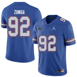 Jordan Brand Men #92 Jabari Zuniga Florida Gators College Football Jerseys Royal 577671-931