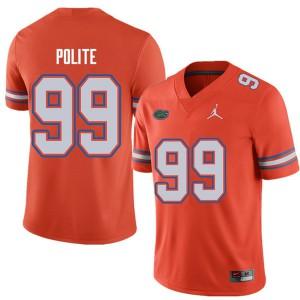 Jordan Brand Men #99 Jachai Polite Florida Gators College Football Jerseys Orange 665697-282