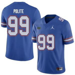 Jordan Brand Men #99 Jachai Polite Florida Gators College Football Jerseys Royal 897008-793