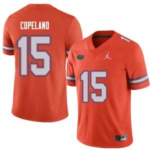 Jordan Brand Men #15 Jacob Copeland Florida Gators College Football Jerseys Orange 688248-146