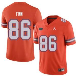 Jordan Brand Men #86 Jacob Finn Florida Gators College Football Jerseys Orange 960202-417