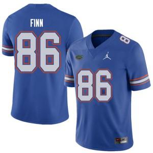 Jordan Brand Men #86 Jacob Finn Florida Gators College Football Jerseys Royal 531116-337