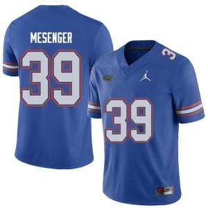 Jordan Brand Men #39 Jacob Mesenger Florida Gators College Football Jerseys Royal 605112-605