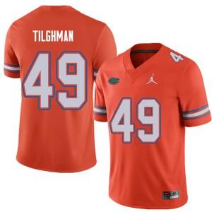 Jordan Brand Men #49 Jacob Tilghman Florida Gators College Football Jerseys Orange 138563-194
