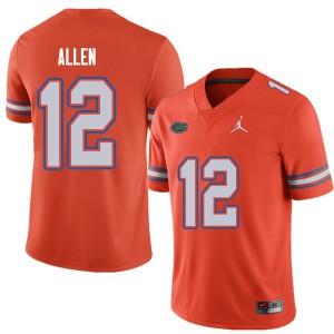 Jordan Brand Men #12 Jake Allen Florida Gators College Football Jerseys Orange 578000-318