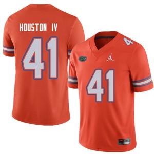 Jordan Brand Men #41 James Houston IV Florida Gators College Football Jerseys Orange 830303-569