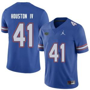 Jordan Brand Men #41 James Houston IV Florida Gators College Football Jerseys Royal 746059-819