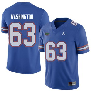 Jordan Brand Men #63 James Washington Florida Gators College Football Jerseys Royal 858472-981