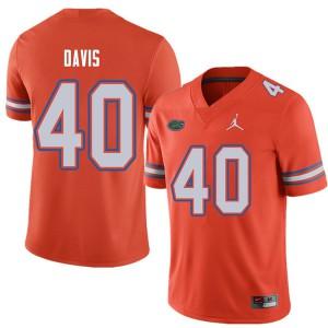Jordan Brand Men #40 Jarrad Davis Florida Gators College Football Jerseys Orange 219224-567