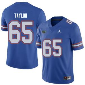 Jordan Brand Men #65 Jawaan Taylor Florida Gators College Football Jerseys Royal 327237-393