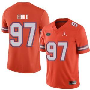 Jordan Brand Men #97 Jon Gould Florida Gators College Football Jerseys Orange 728214-374