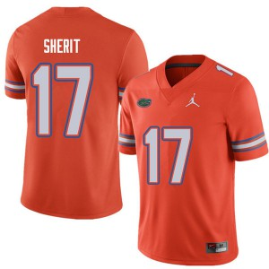 Jordan Brand Men #17 Jordan Sherit Florida Gators College Football Jerseys Orange 881345-348