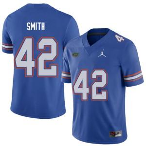 Jordan Brand Men #42 Jordan Smith Florida Gators College Football Jerseys Royal 870851-622