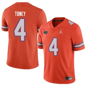 Jordan Brand Men #4 Kadarius Toney Florida Gators College Football Jerseys Orange 898250-722