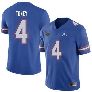 Jordan Brand Men #4 Kadarius Toney Florida Gators College Football Jerseys Royal 724044-870