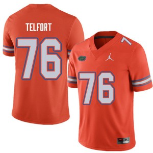 Jordan Brand Men #76 Kadeem Telfort Florida Gators College Football Jerseys Orange 833190-630
