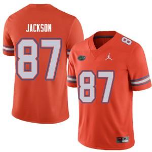 Jordan Brand Men #87 Kalif Jackson Florida Gators College Football Jerseys Orange 230638-189