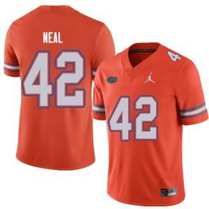 Jordan Brand Men #42 Keanu Neal Florida Gators College Football Jerseys Orange 777554-530