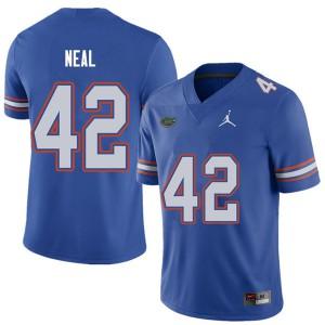 Jordan Brand Men #42 Keanu Neal Florida Gators College Football Jerseys Royal 513180-872