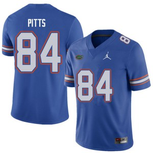 Jordan Brand Men #84 Kyle Pitts Florida Gators College Football Jerseys Royal 811142-264