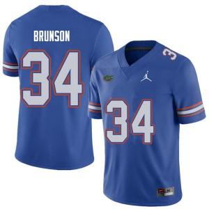 Jordan Brand Men #34 Lacedrick Brunson Florida Gators College Football Jerseys Royal 374710-882