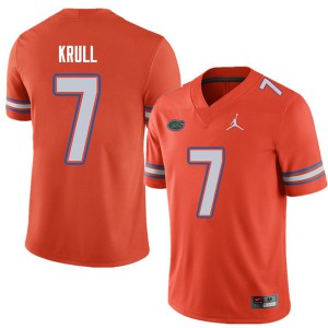 Jordan Brand Men #7 Lucas Krull Florida Gators College Football Jerseys Orange 653339-970