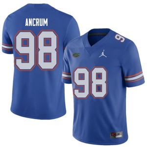 Jordan Brand Men #98 Luke Ancrum Florida Gators College Football Jerseys Royal 935664-457