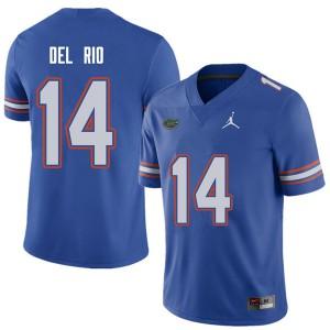 Jordan Brand Men #14 Luke Del Rio Florida Gators College Football Jerseys Royal 737183-993