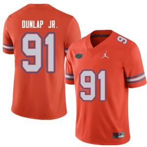 Jordan Brand Men #91 Marlon Dunlap Jr. Florida Gators College Football Jerseys Orange 785438-216