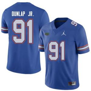 Jordan Brand Men #91 Marlon Dunlap Jr. Florida Gators College Football Jerseys Royal 761160-971
