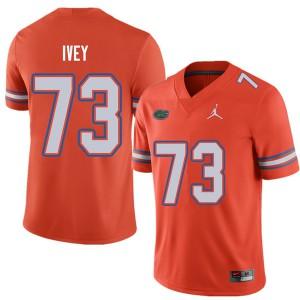 Jordan Brand Men #73 Martez Ivey Florida Gators College Football Jerseys Orange 969657-709