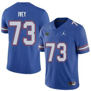 Jordan Brand Men #73 Martez Ivey Florida Gators College Football Jerseys Royal 378680-848