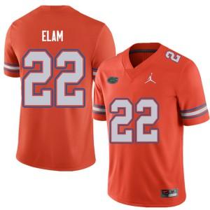 Jordan Brand Men #22 Matt Elam Florida Gators College Football Jerseys Orange 593123-889