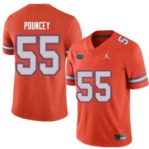 Jordan Brand Men #55 Mike Pouncey Florida Gators College Football Jerseys Orange 150095-866