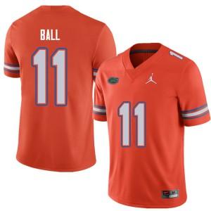 Jordan Brand Men #11 Neiron Ball Florida Gators College Football Jerseys Orange 685674-308