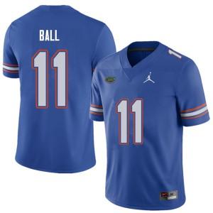 Jordan Brand Men #11 Neiron Ball Florida Gators College Football Jerseys Royal 470410-839