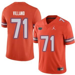 Jordan Brand Men #71 Nick Villano Florida Gators College Football Jerseys Orange 947382-747