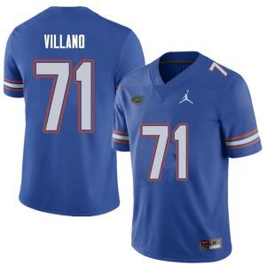 Jordan Brand Men #71 Nick Villano Florida Gators College Football Jerseys Royal 993274-287