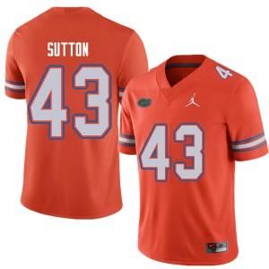 Jordan Brand Men #43 Nicolas Sutton Florida Gators College Football Jerseys Orange 841616-996