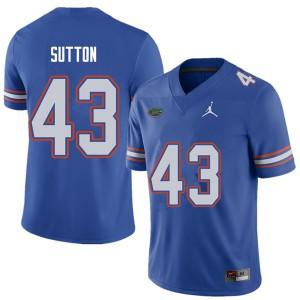 Jordan Brand Men #43 Nicolas Sutton Florida Gators College Football Jerseys Royal 142985-431