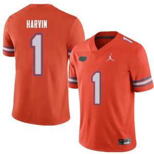 Jordan Brand Men #1 Percy Harvin Florida Gators College Football Jerseys Orange 406536-494
